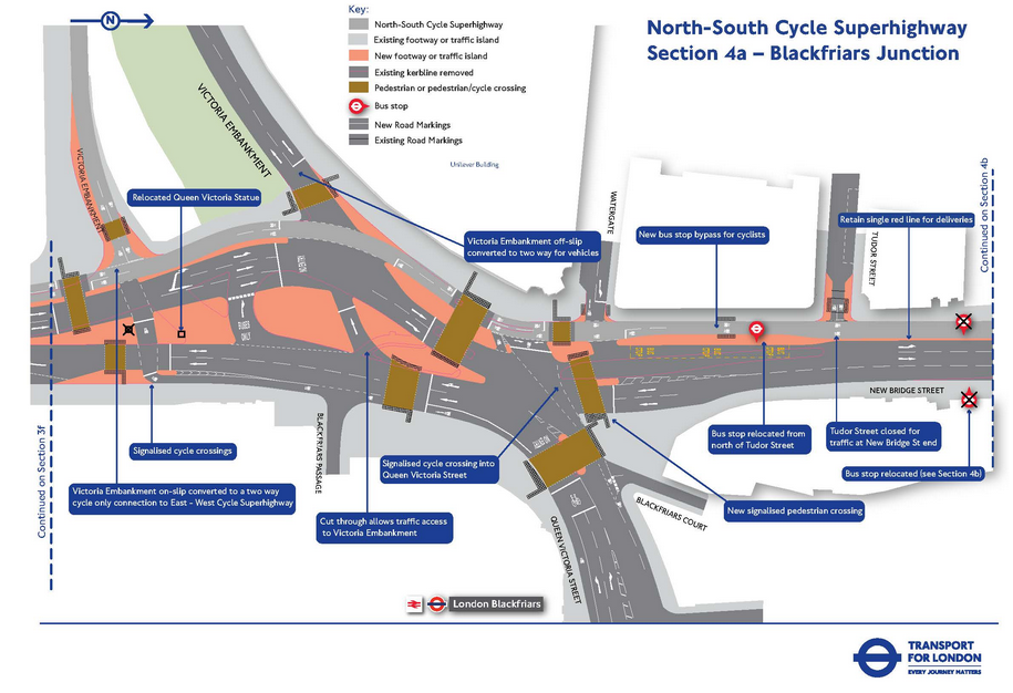 Our South Banknorth South Cycle Superhighway Works Blackfriars
